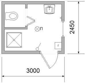Чертеж санитарно-гигиенического контейнера