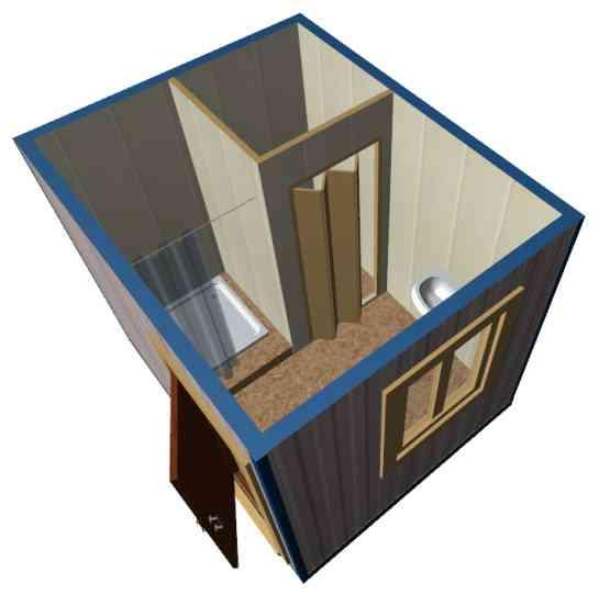 Санитарно-гигиенический контейнер вид сверху